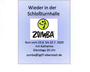 Zumba Kurs vom 23. 6. bis 22.7. 2020